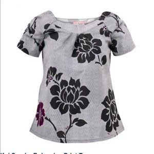 Koi brand cute print scrub top size M